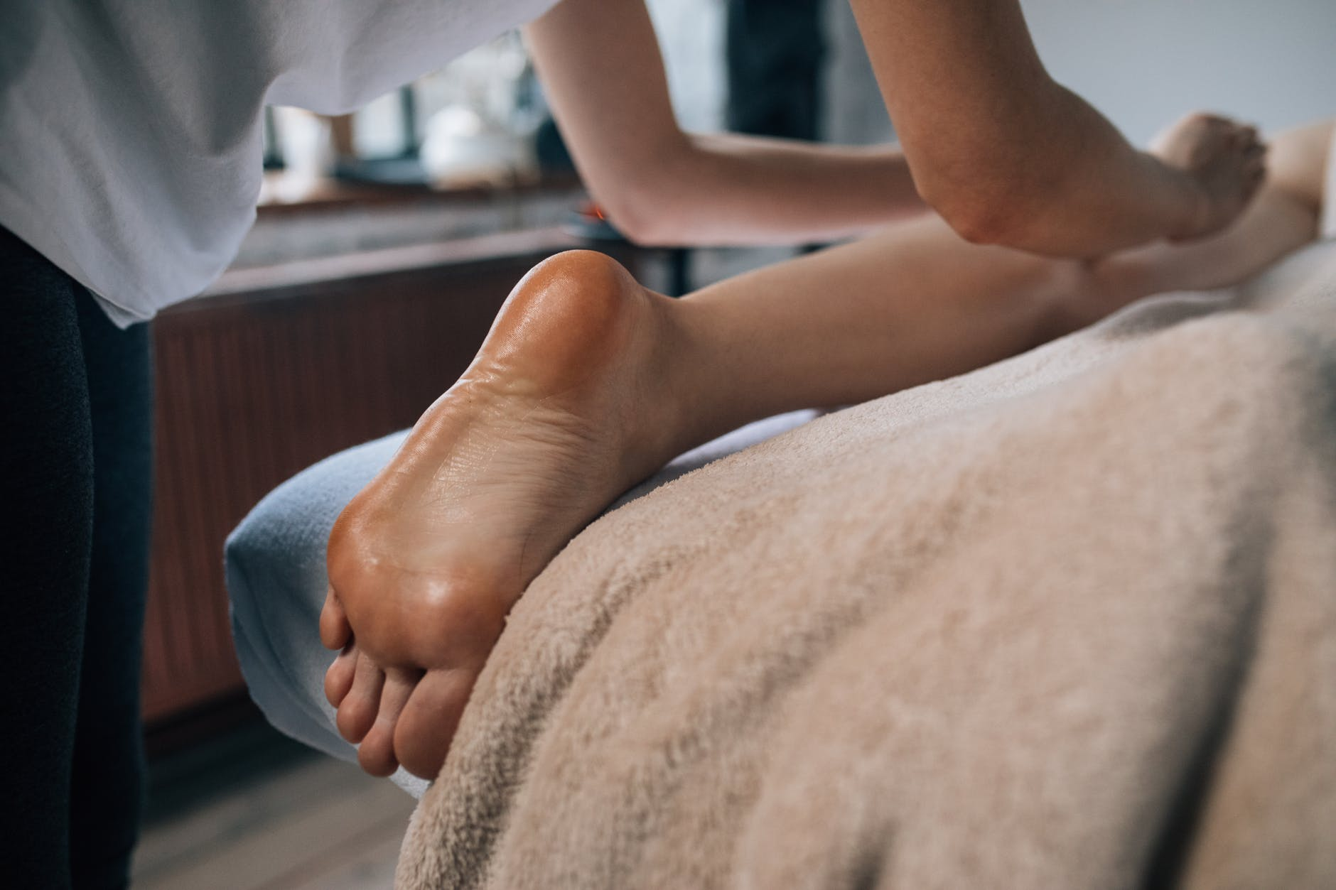 masáž, noha